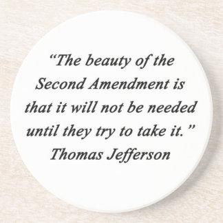 Posavasos Jefferson - segunda enmienda
