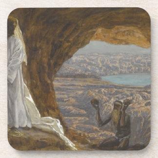 Posavasos Jesús tentó en desierto
