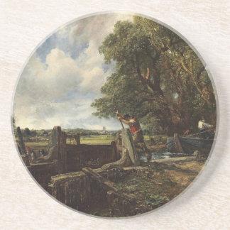 Posavasos John Constable - la cerradura - paisaje del campo