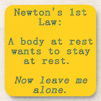 Posavasos La 1ra ley de Newton