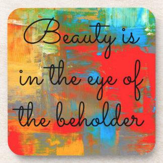 Posavasos La belleza está en el ojo del espectador