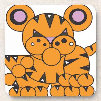 Posavasos La forma hizo el tigre