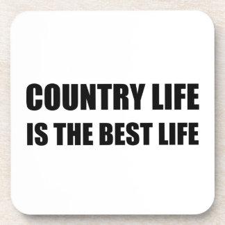 Posavasos La mejor vida de la vida en el campo