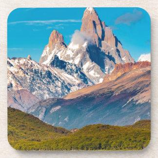 Posavasos Lago y montañas de los Andes, Patagonia - la