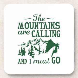 Posavasos Las montañas están llamando