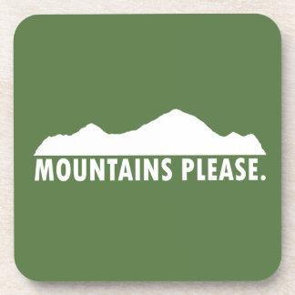 Posavasos Las montañas satisfacen