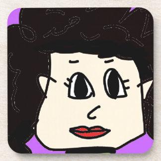 Posavasos las mujeres con el pelo negro