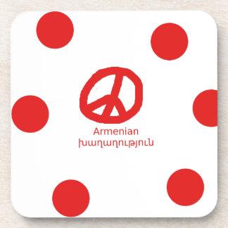Posavasos Lengua y diseño armenios del símbolo de paz