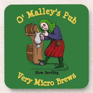 Posavasos Logotipo casero personalizado del Pub del