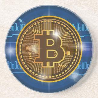 Posavasos Logotipo de Bitcoin y diseño frescos del gráfico