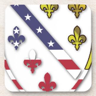 Posavasos Logotipo de encargo claro del diseño de la bandera