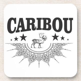 Posavasos logotipo de la taza del caribú