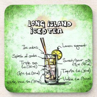 Posavasos Long Island heló receta de la bebida del té