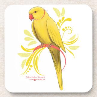 Posavasos Loro amarillo de Ringneck del indio
