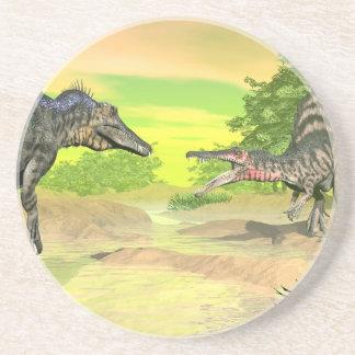 Posavasos Lucha de los dinosaurios de Spinosaurus - 3D