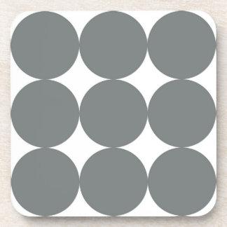 Posavasos Lunares grises en el modelo retro blanco