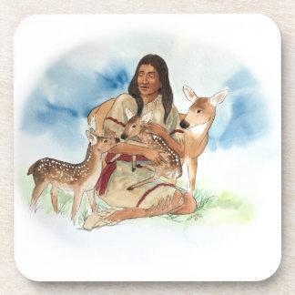 Posavasos Madre del clan de los ciervos con sus cervatillos
