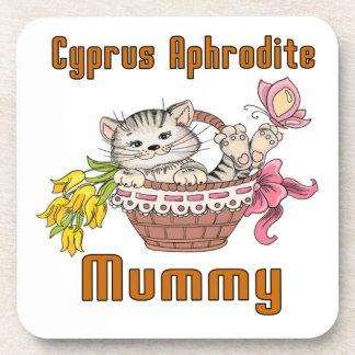 Posavasos Mamá del gato del Aphrodite de Chipre
