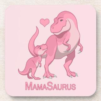 Posavasos MamaSaurus T-Rex y dinosaurios de la niña