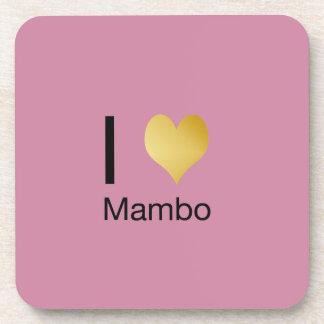 Posavasos Mambo juguetónamente elegante del corazón de I