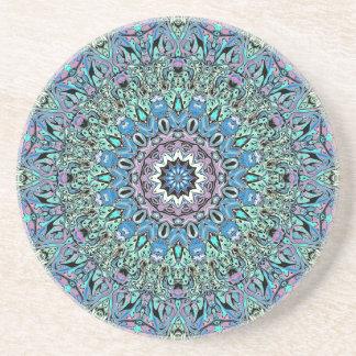Posavasos Mandala abstracta de la turquesa