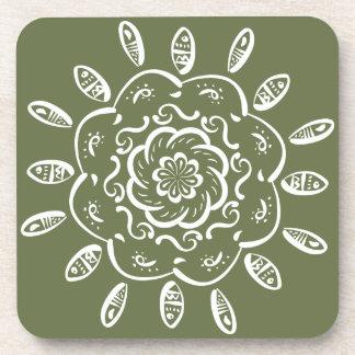 Posavasos Mandala del musgo