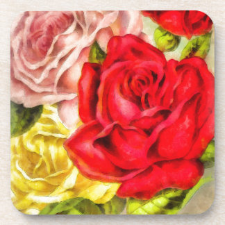 Posavasos Manojo de acuarela de los rosas