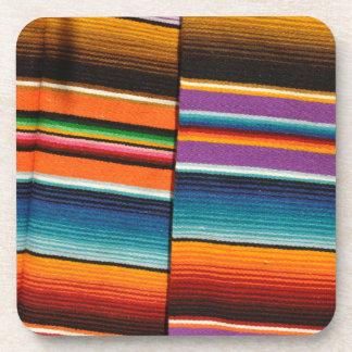 Posavasos Mantas coloridas mexicanas mayas