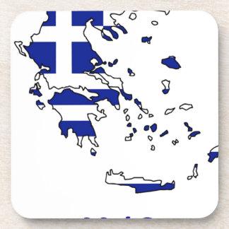 POSAVASOS MAPA DE LA BANDERA DE GRECIA