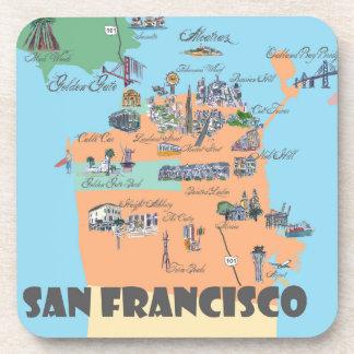 Posavasos Mapa de San Francisco California
