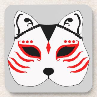 Posavasos Máscara japonesa del gato