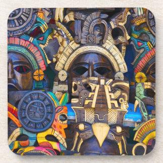Posavasos Máscaras de madera mayas para la venta