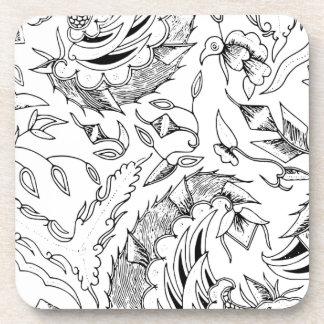 Posavasos Materia textil indonesia de las plantas y de los