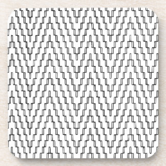 Posavasos Materia textil indonesia ondulada abstracta