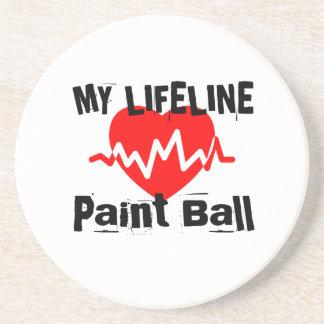 Posavasos Mi línea de vida bola de la pintura se divierte
