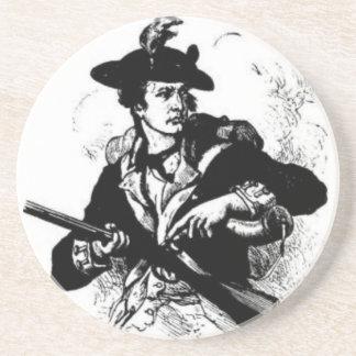 Posavasos Minuteman revolucionario de la guerra con el arma