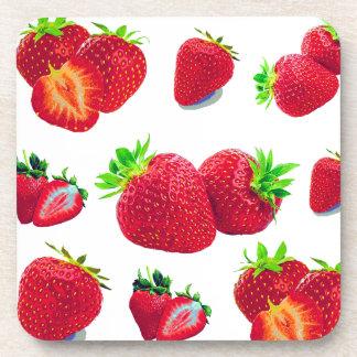 Posavasos Modelo de la fruta de la fresa