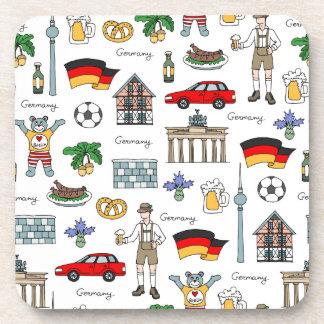 Posavasos Modelo de los símbolos de Alemania el  