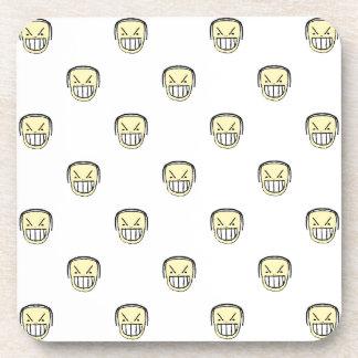 Posavasos Modelo enojado del gráfico de Emoji