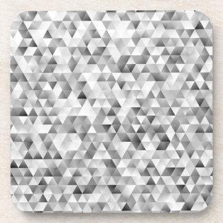 Posavasos Modelo gris del triángulo