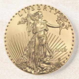Posavasos Moneda de Eagle del oro