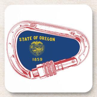 Posavasos Mosquetón que sube de la bandera de Oregon