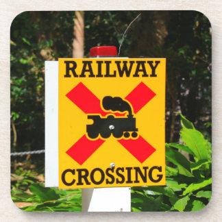 Posavasos Muestra del cruce ferroviario