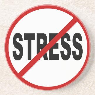 Posavasos Muestra permitida tensión del odio Stress/No