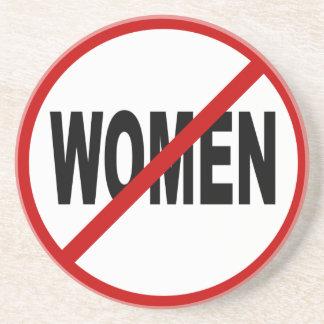 Posavasos Mujeres del odio Women/No no prohibidas la