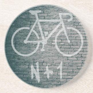 Posavasos N+1 pintada de la bici