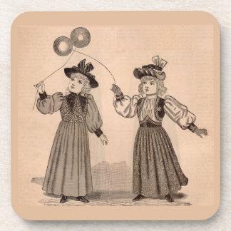 Posavasos Niñas del Victorian con los globos