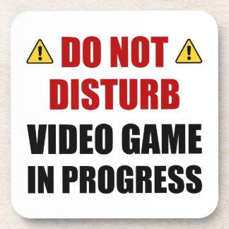 Posavasos No perturbe el videojuego