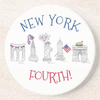 Posavasos Nueva York cuartas NYC señales patrióticas del 4