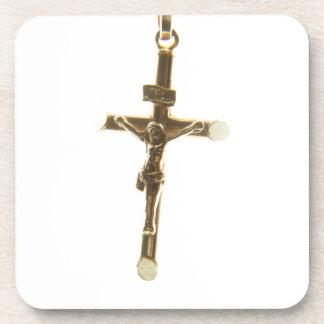 Posavasos Oro cruzado del Jesucristo horizontal